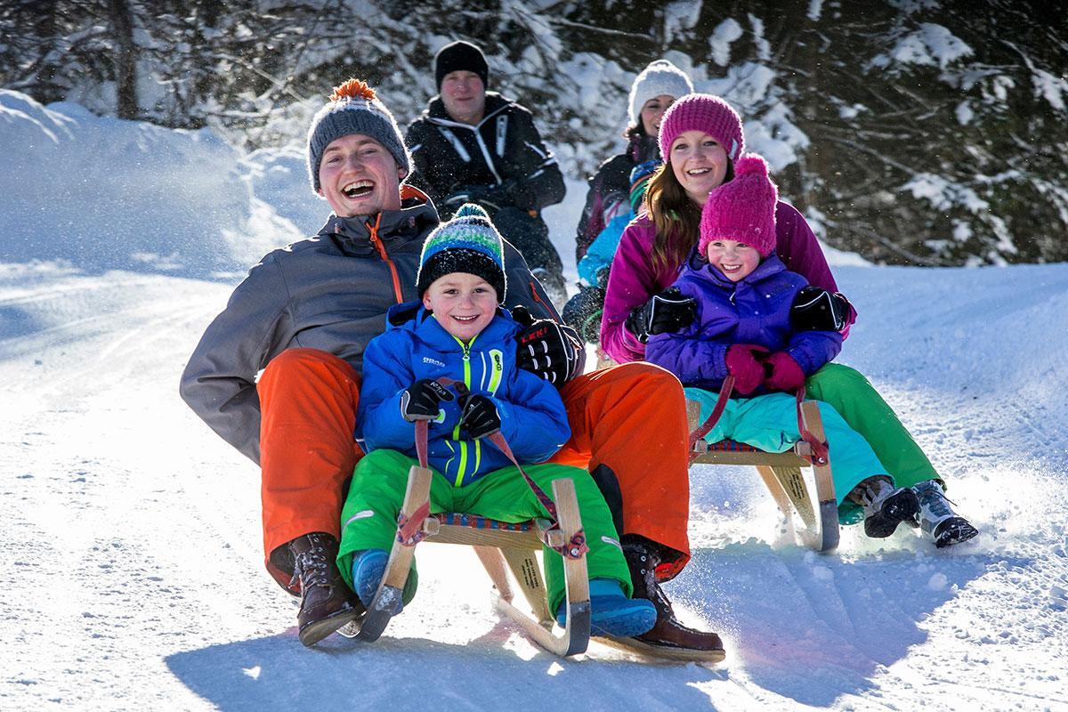 Rodeln - Winterurlaub in Radstadt, Salzburger Sportwelt